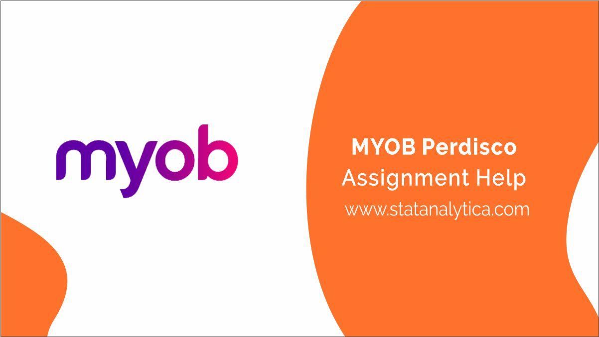 myob-perdisco-assignment-help